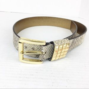 SZ Small Snakeskin Python Genuine Leather Belt